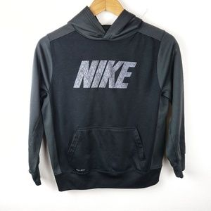 Nike | Dri-Fit Boys Black Pullover Hoodie Large